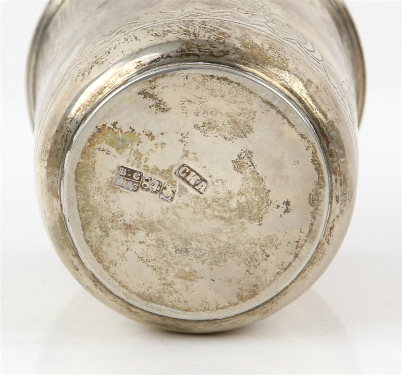 19th century Russian silver beaker with engraved decoration, maker's mark 'CNA', Moscow, 1883, 2. - Image 4 of 4
