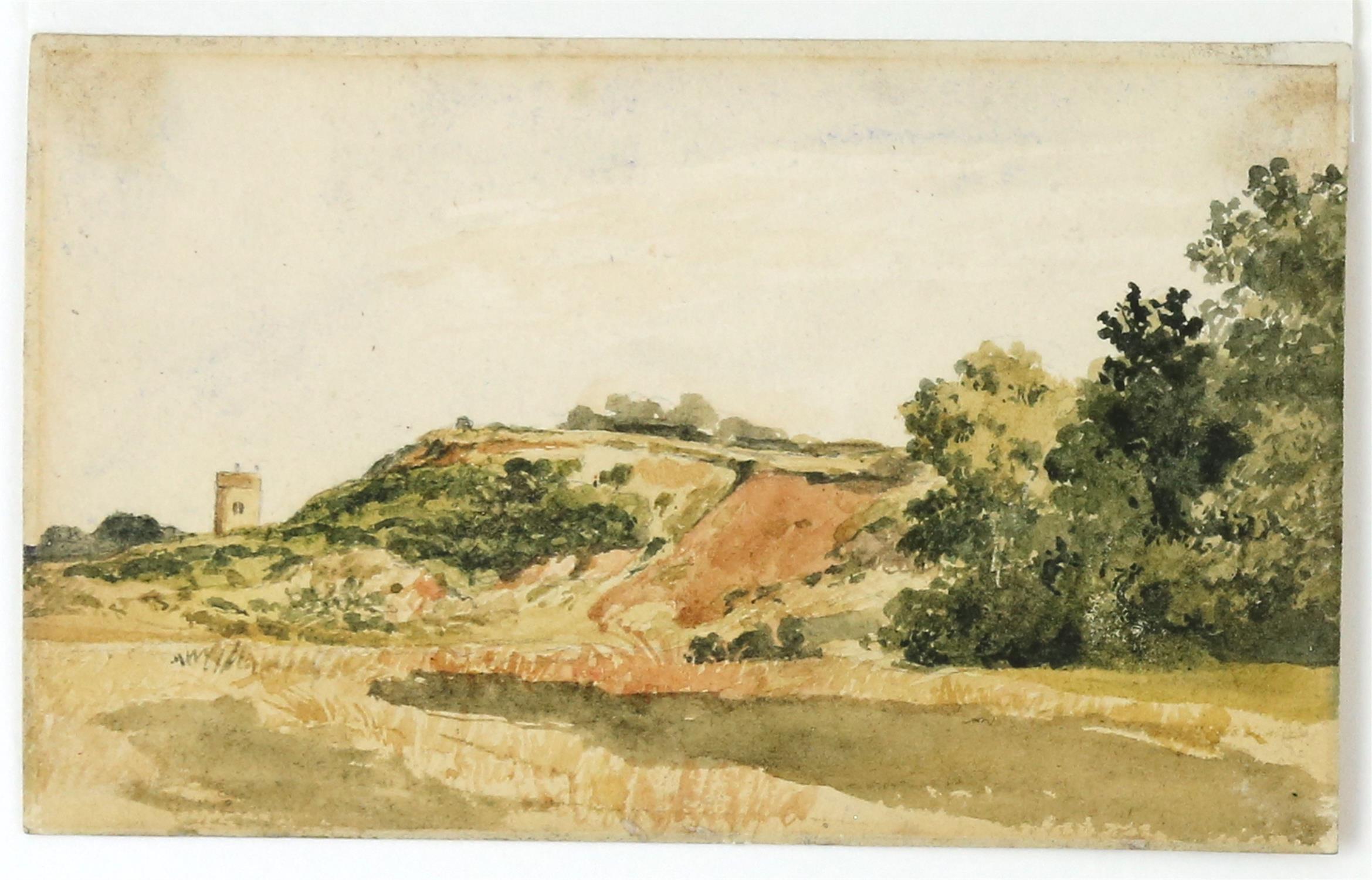 James Stark (British, 1794-1859), 'New Mills, Norwich', 11cm x 8cm, and 'Whitlingham, near Norwich',