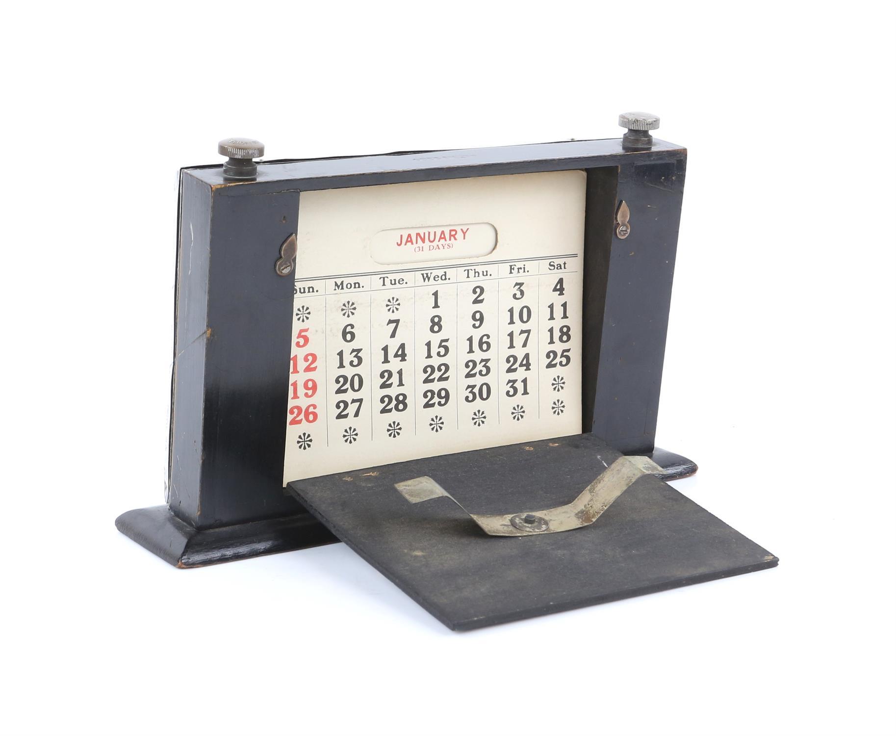 Silver presentation desk calendar, Birmingham 1927, capstan inkwell, page mark, coffee spoons, - Image 2 of 14