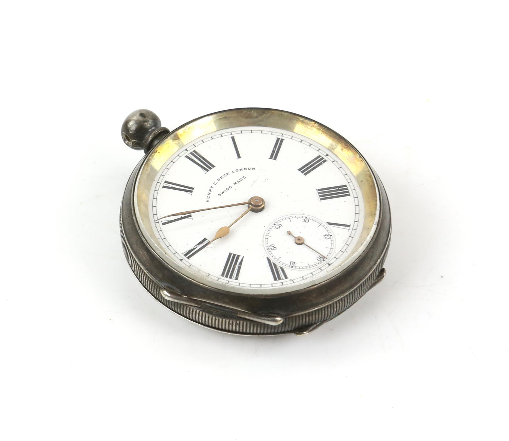 Selection of four continental silver 800 to 935 grade pocket watches - Image 5 of 14