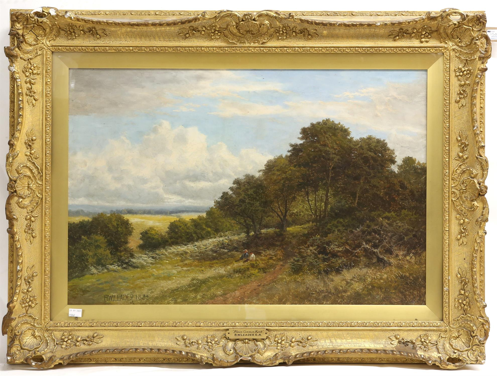 Benjamin Williams Leader RA (1831-1923), 'Blean Common, Kent', oil on canvas, signed and dated 1883