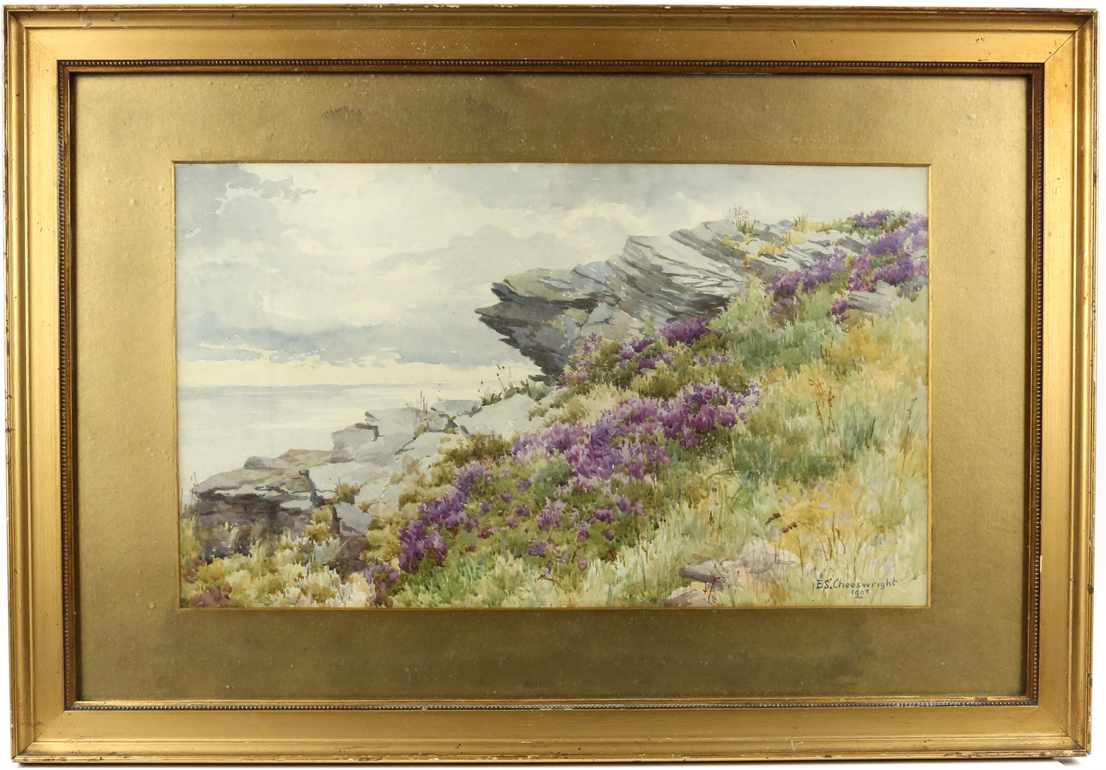 """Ethel Sophia Cheesewright (British, 1874-1977) """"between the heather and the Northern Sea"""", - Image 2 of 5"""