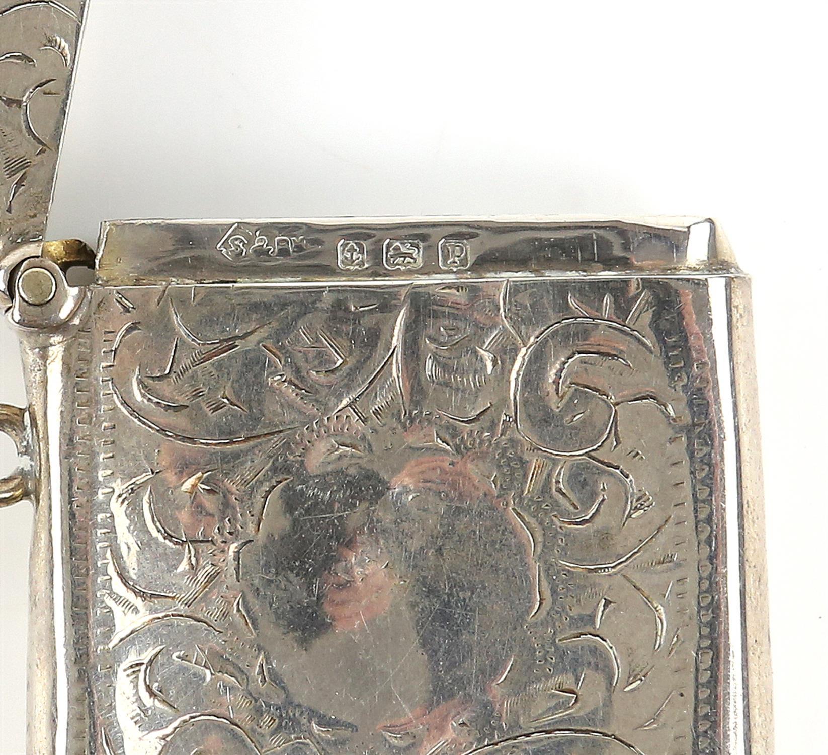 George V silver vesta with bright cut decoration, by Smith & Bartlam, Birmingham, 1914, - Image 14 of 18