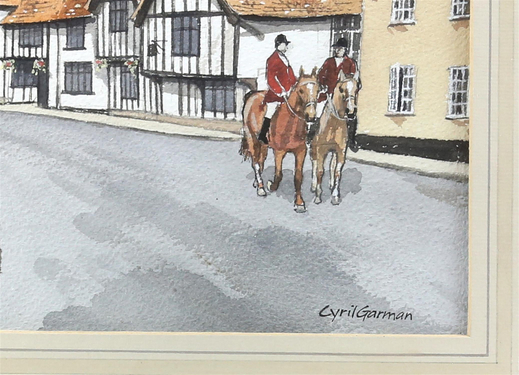 "Cyril Garman (20th Century British), ""Sailing Barges, Deben Estuary"", watercolour, signed, - Image 7 of 9"
