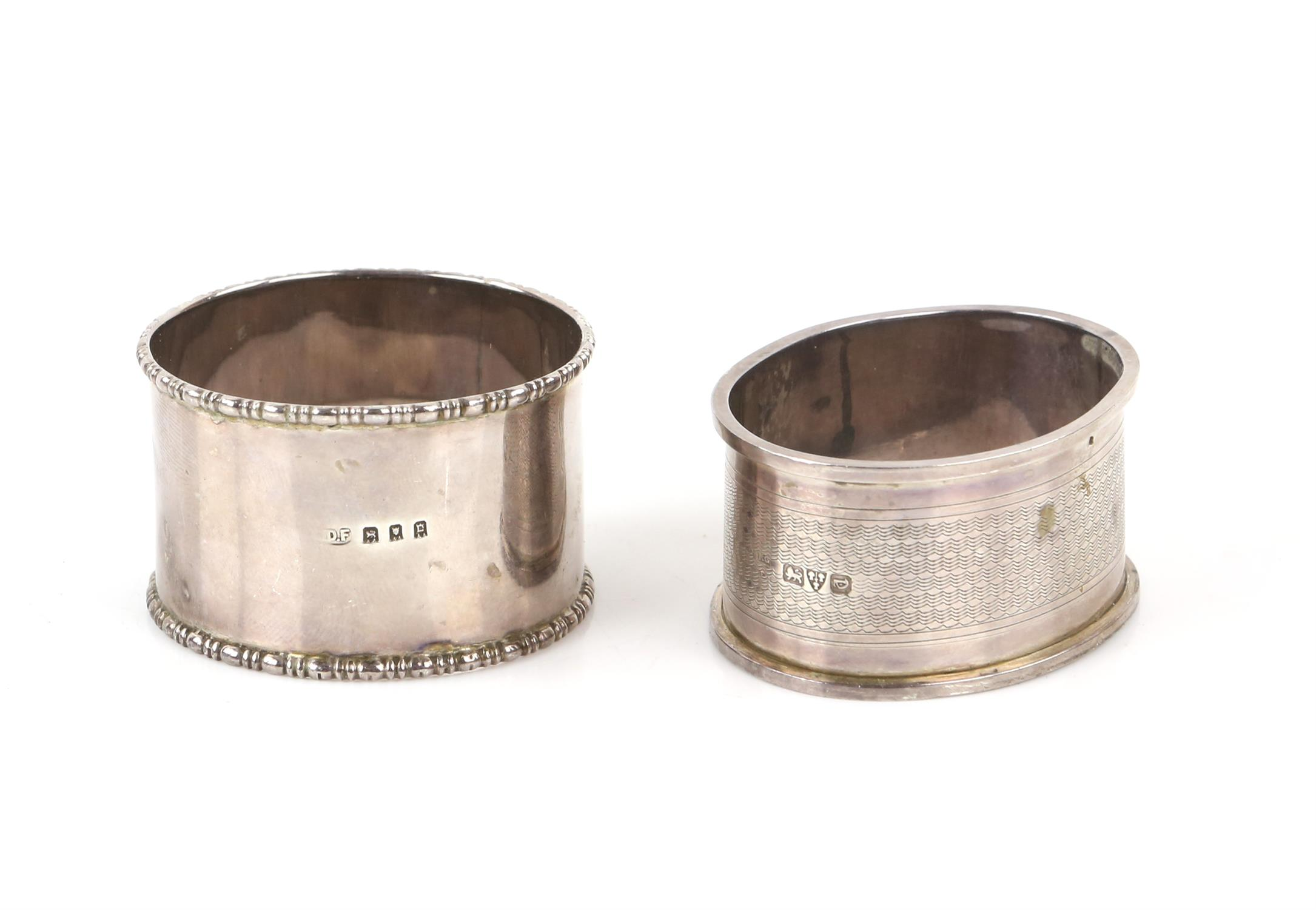 Pair of oval pierced silver bon-bon dishes, by Robert Pringle & Sons London 1927, - Image 10 of 11