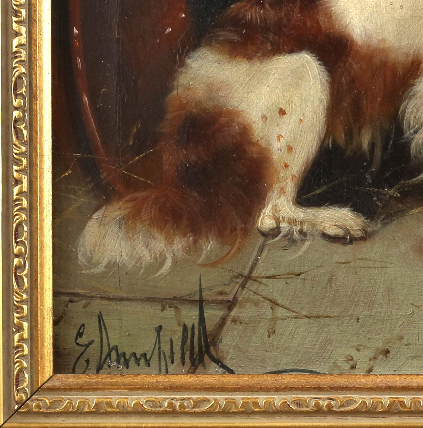 Edward Armfield (British, 1817-1896) 'Waiting for Master'; and 'Terriers Misbehaving', both signed, - Image 7 of 9