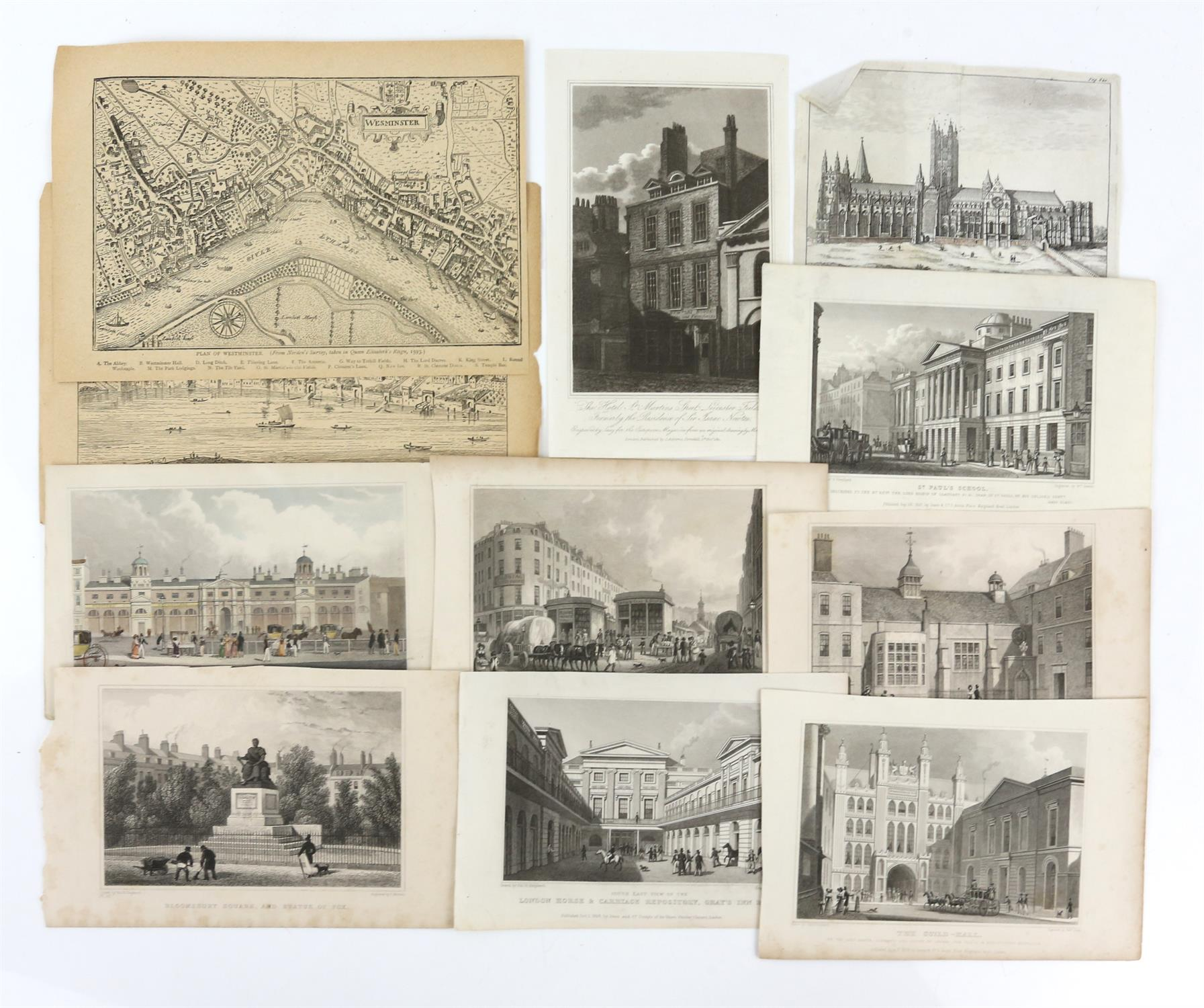 Large quantity of 18th and 19th century topographical engravings. Approx. 200 including 50+ London - Image 5 of 6