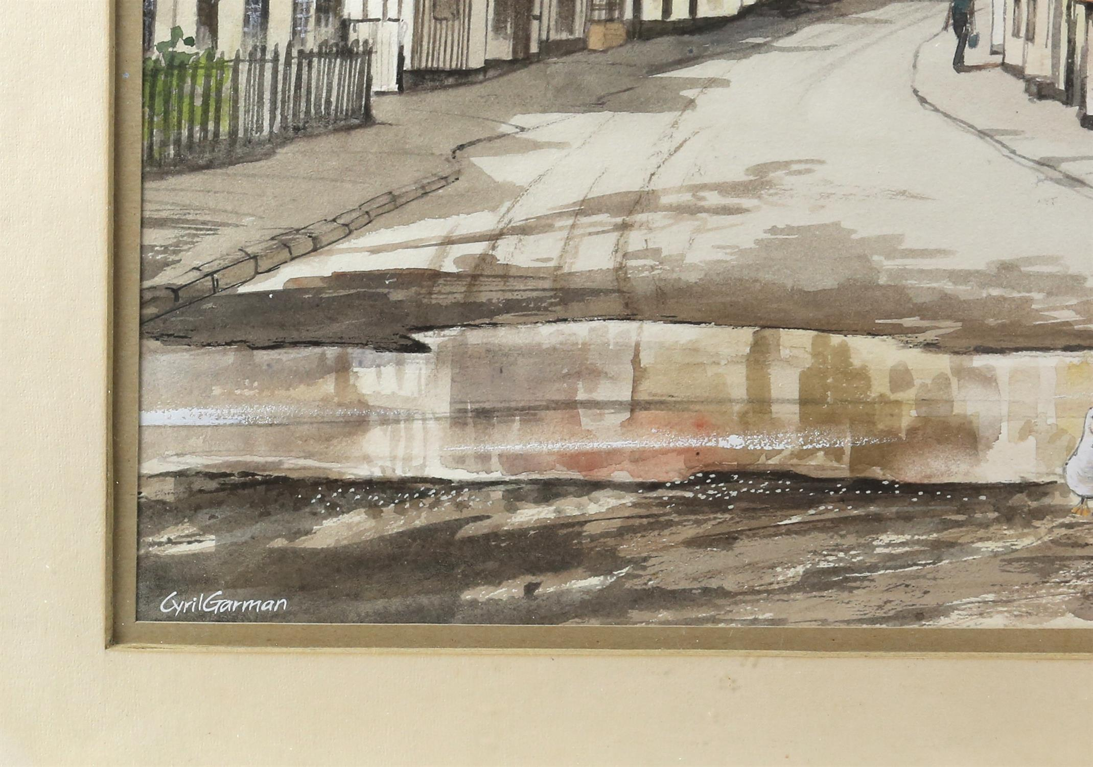 "Cyril Garman (20th Century British), ""Sailing Barges, Deben Estuary"", watercolour, signed, - Image 5 of 9"