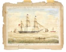 Alexander Weynton (British, 1827-c1860). A set of six watercolours of ships by master mariner and
