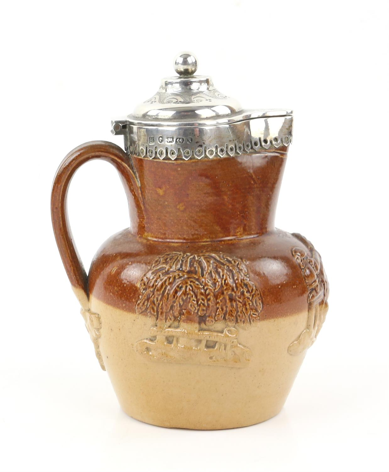 Silver mounted Victorian harvest jug by Thomas Prime and Son, Birmingham 1872 - Image 3 of 6
