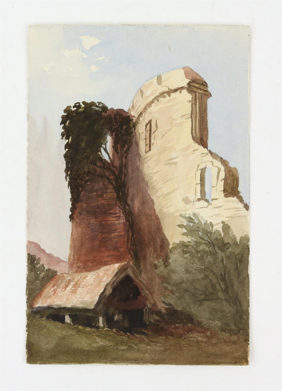 19th century British School, landscape with scene of a church, watercolour, 18cm x 26.5cm, 'St. - Image 4 of 6