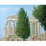 § Vasilis Zenetzis (Greek, 1935-2016), 'The Parthenon on the Acropolis from the East', signed,