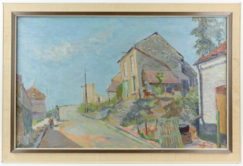 Willem Jans Dijk, Dutch 1881-1970, 'Waulsort, Belgium', street scene with houses, monogrammed, - Image 2 of 4