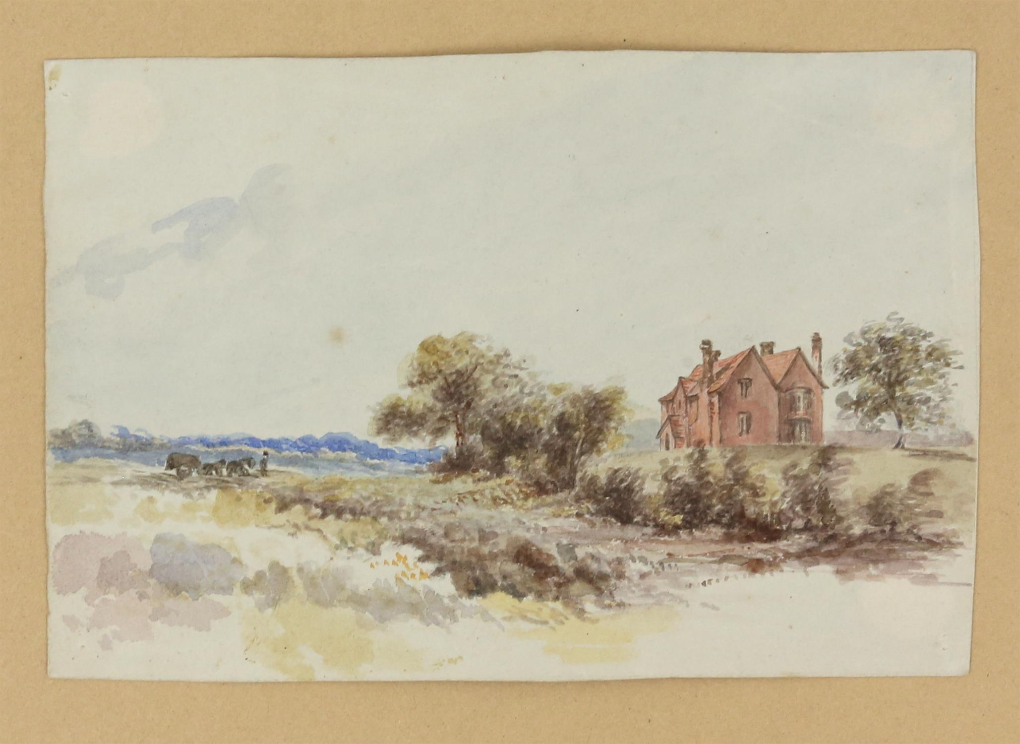 19th century British School, landscape with scene of a church, watercolour, 18cm x 26.5cm, 'St. - Image 3 of 6