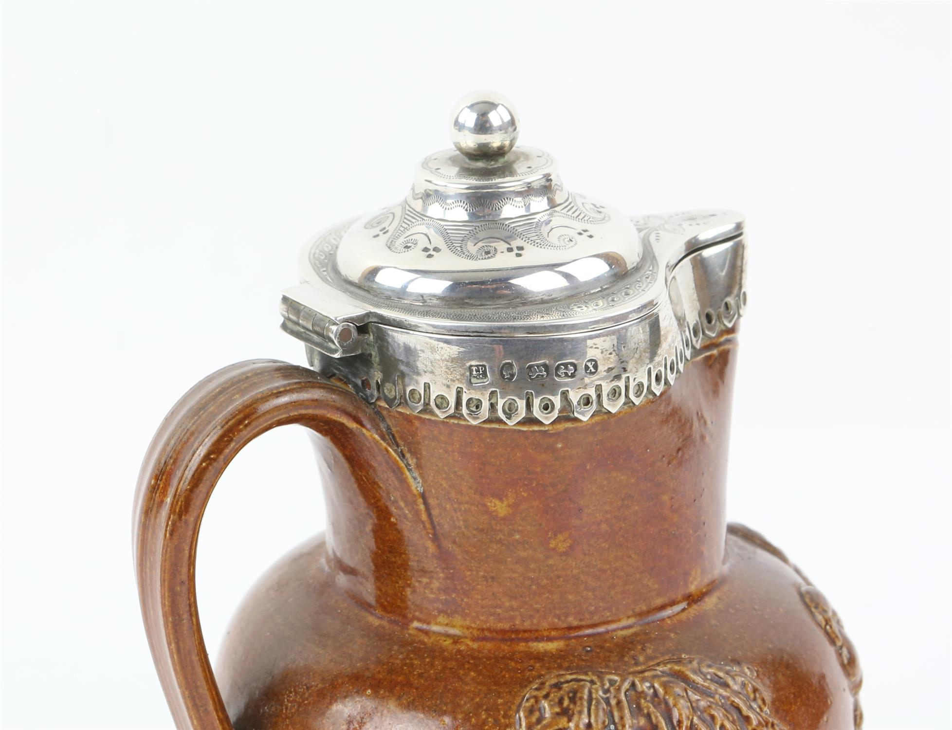 Silver mounted Victorian harvest jug by Thomas Prime and Son, Birmingham 1872 - Image 6 of 6