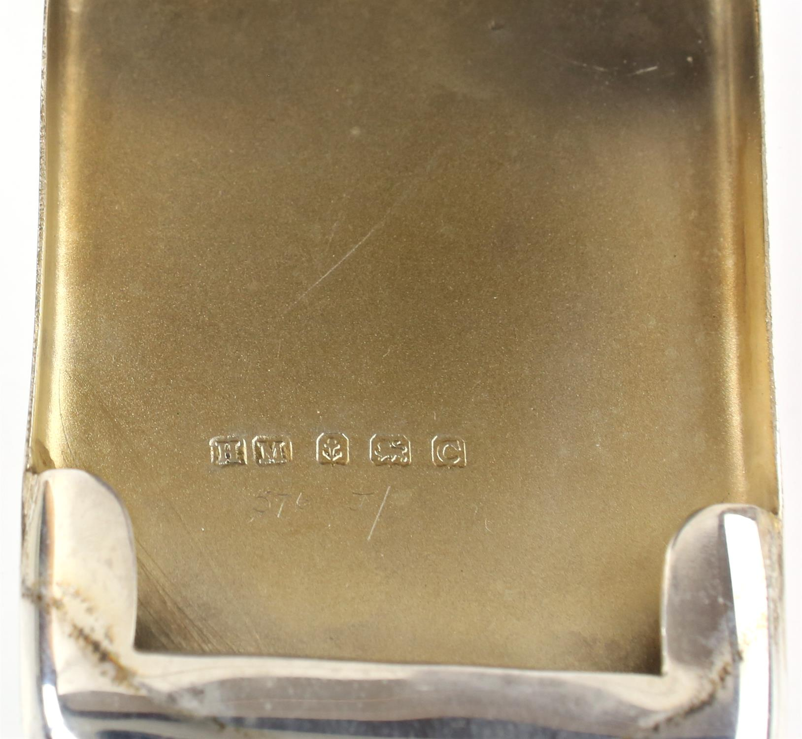 Silver advertising match book holder for Johnny Walker whisky by Henry Matthews, Birmingham 1927 - Image 5 of 5
