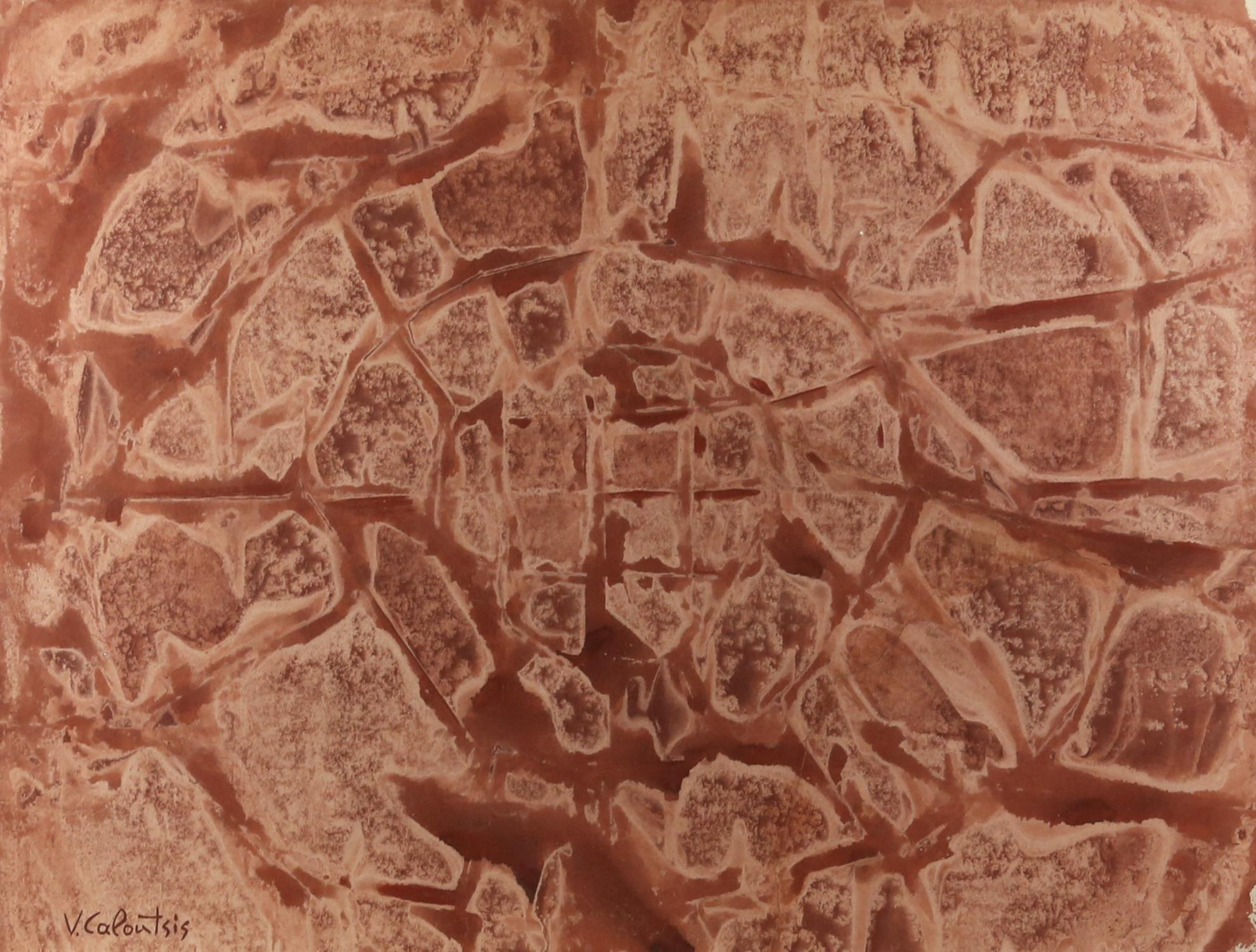 Valerios Caloustis (Greek, 1927-2004), untitled, watercolour, 53cm x 69.5cm,