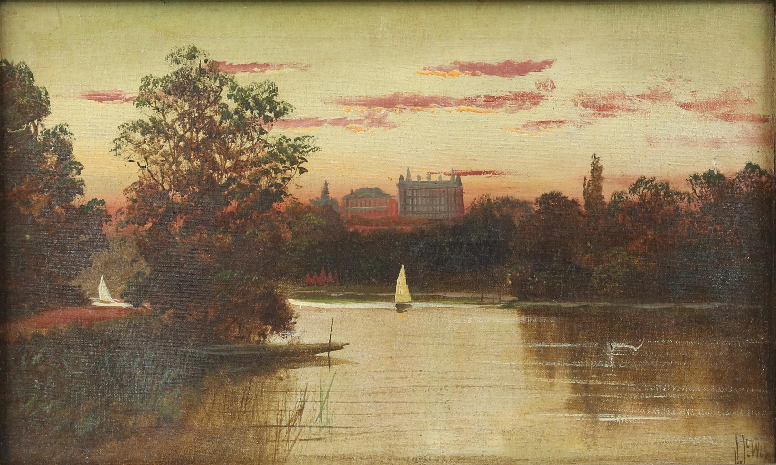 James Isiah Lewis (British, 1860-1934), Star and Garter, Richmond on Thames, View from Marble Hill