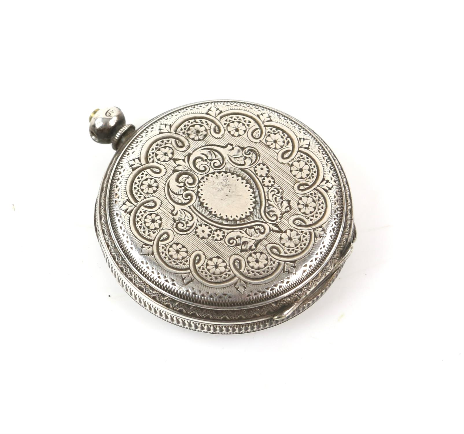 Selection of four continental silver 800 to 935 grade pocket watches - Image 13 of 14