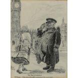 "Bernard Partridge (British, 1861-1945), 'The New Citizenship - Mr Punch: ""Pass, Education Bill; and"