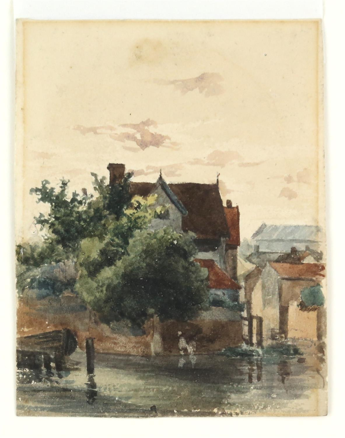 James Stark (British, 1794-1859), 'New Mills, Norwich', 11cm x 8cm, and 'Whitlingham, near Norwich', - Image 2 of 2