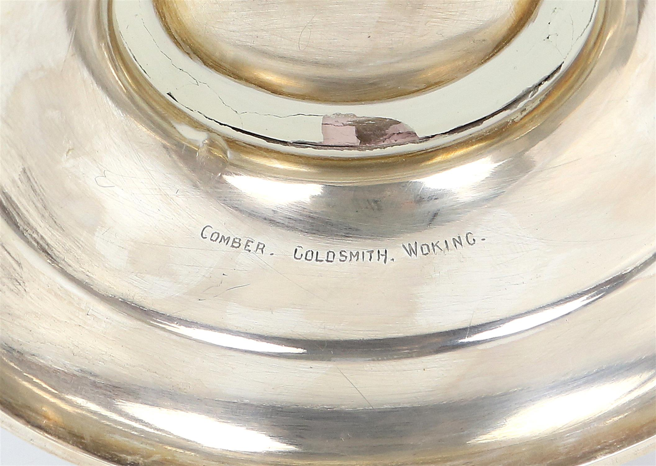 Edward VII silver presentation footed bowl of circular form with floral repousse decoration and - Image 7 of 7