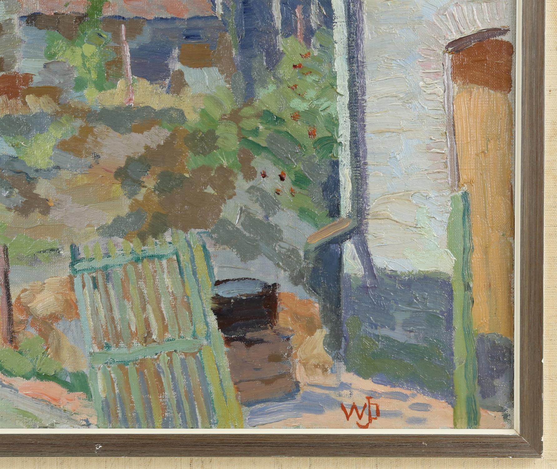 Willem Jans Dijk, Dutch 1881-1970, 'Waulsort, Belgium', street scene with houses, monogrammed, - Image 3 of 4