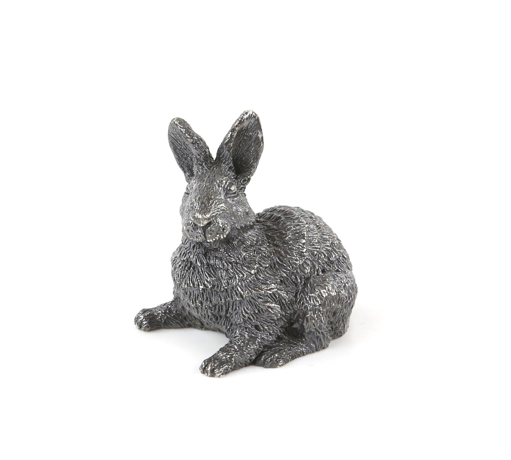 Silver model of a rabbit with import marks for London by FM - Image 2 of 4