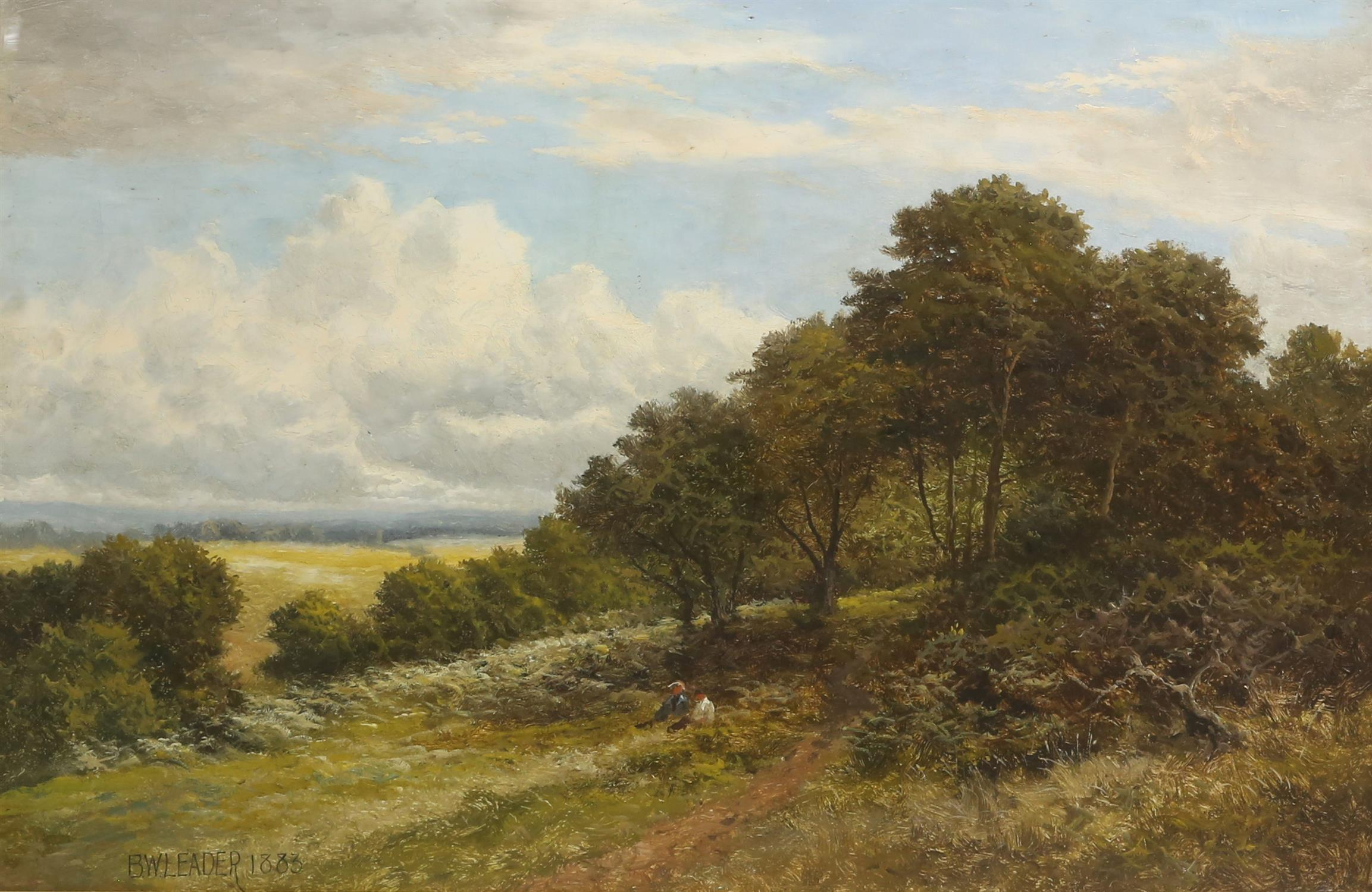Benjamin Williams Leader RA (1831-1923), 'Blean Common, Kent', oil on canvas, signed and dated 1883 - Image 4 of 5