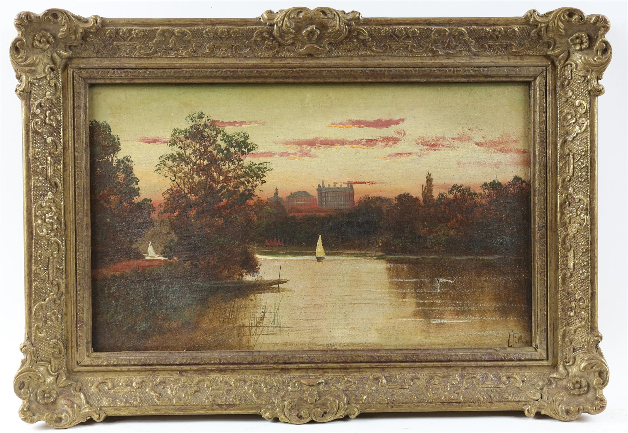 James Isiah Lewis (British, 1860-1934), Star and Garter, Richmond on Thames, View from Marble Hill - Image 2 of 5