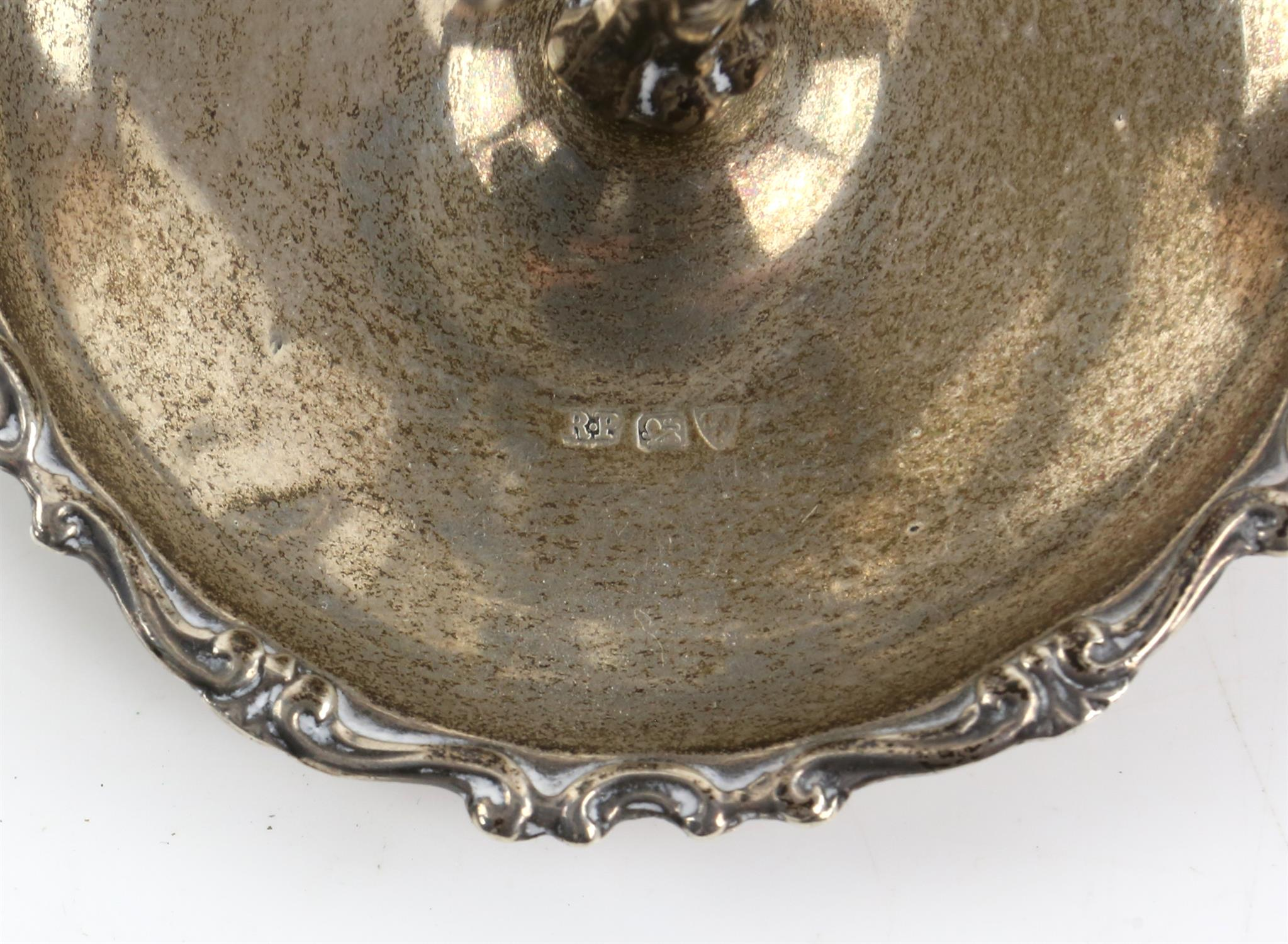 20th century silver ring tree, by Robert Pringle & Sons, Chester, date mark rubbed, 1oz, 33.5g, 7. - Image 2 of 2
