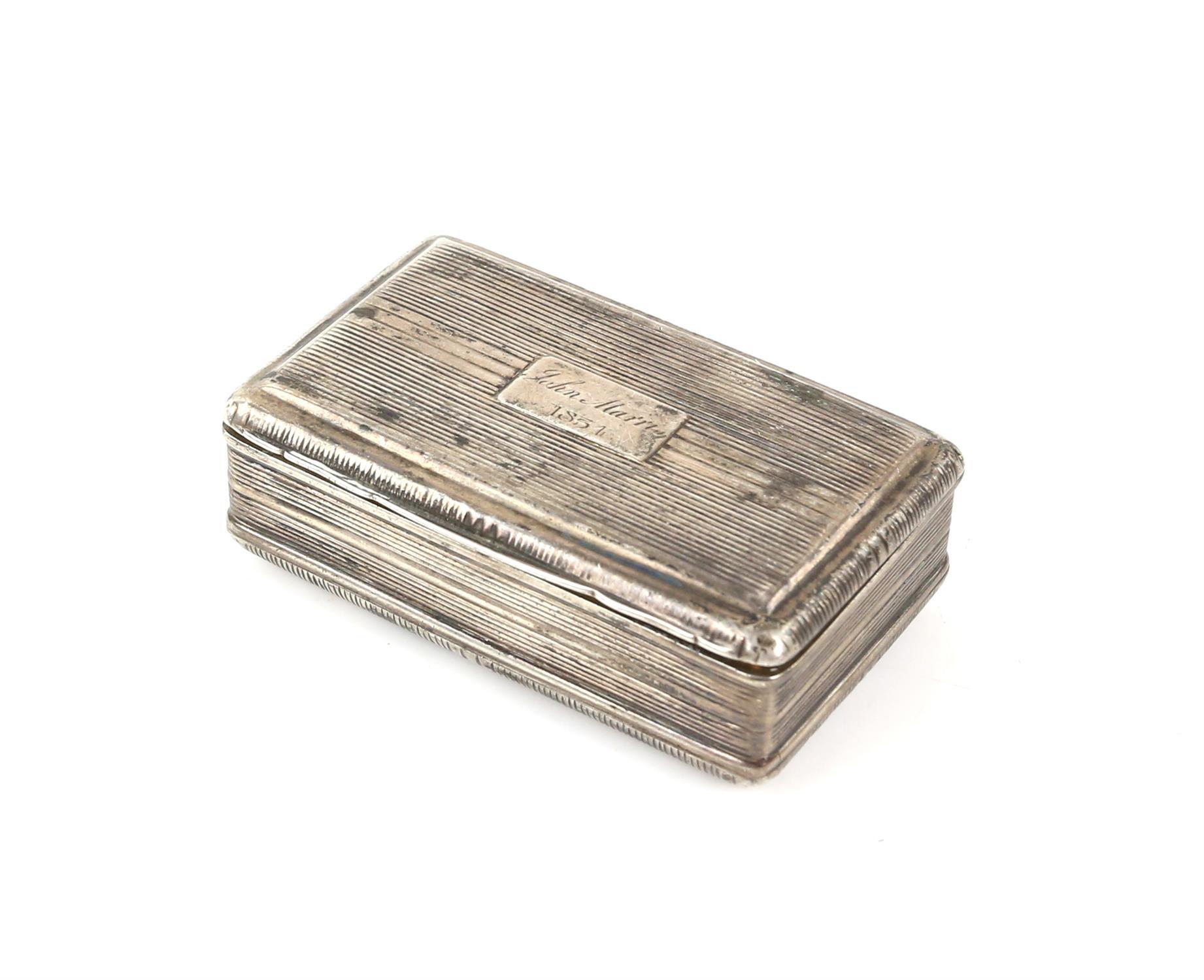 George III silver snuff box by John Shaw, Birmingham 1818, 6.5cm x 4cm x 2cm 2oz 66gm
