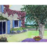 Guy le Corre, French 20th/21st century, 'Villa a Mougins', signed, titled verso, oil on canvas,