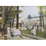 """After the original """"Reception at Malmaison in 1802"""" by Francois Flameng, acrylic on canvas,"""