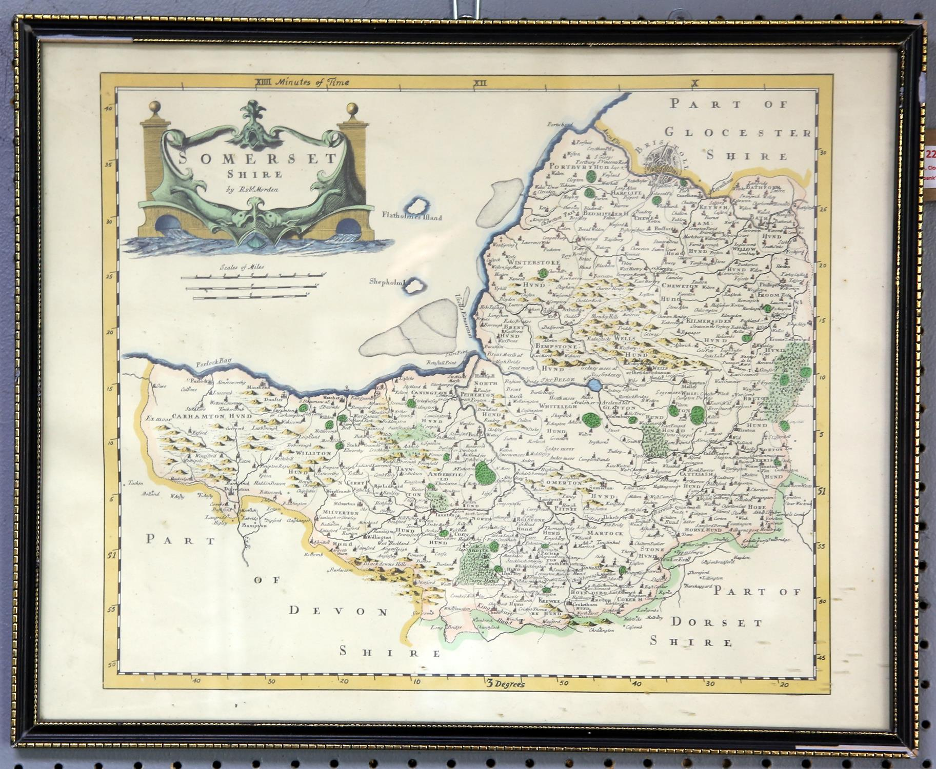A collection of 5 reproduction maps, Ireland, Cornwall, Shropshire, Somerset and Wales - Image 3 of 4