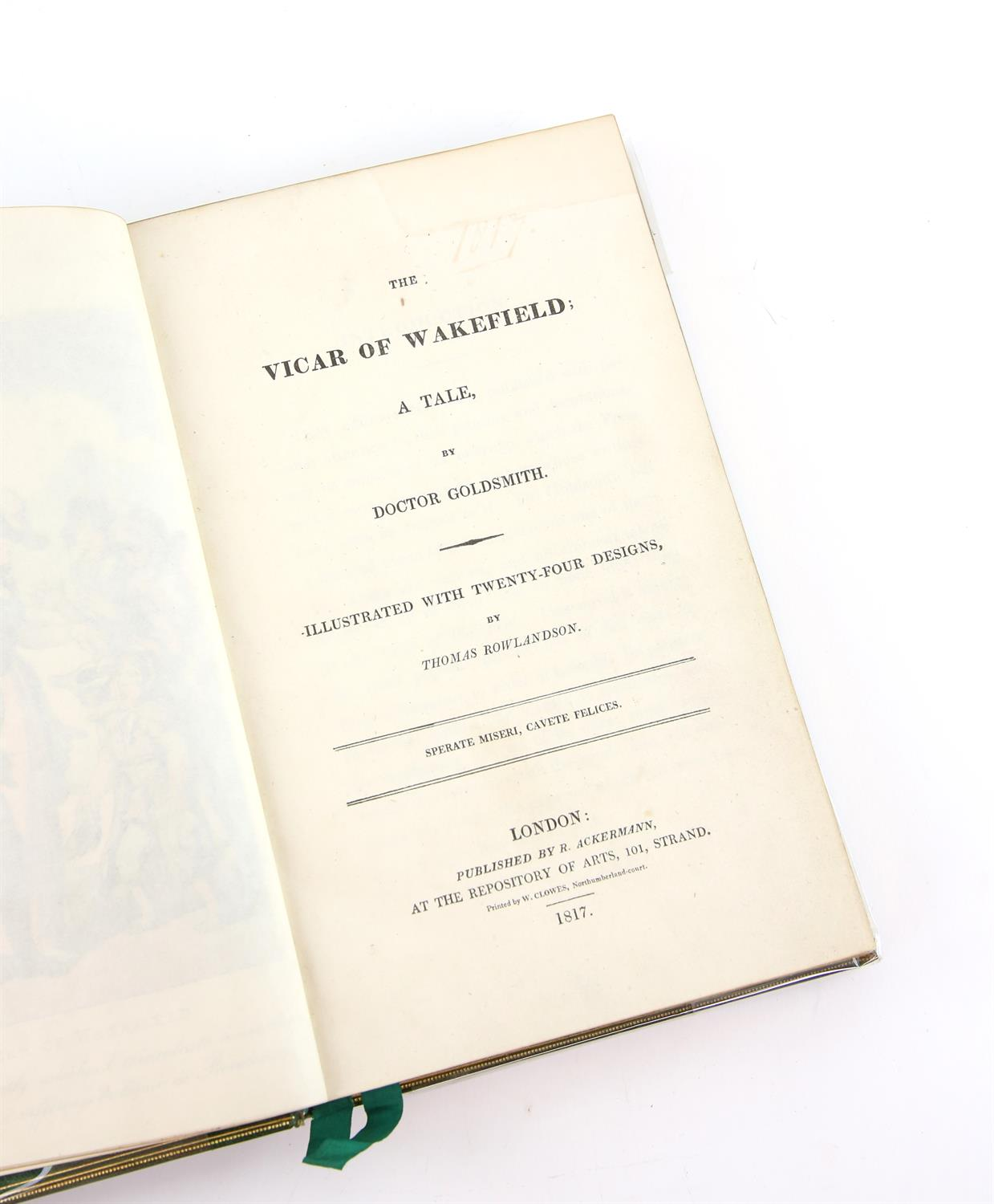 The Vicar of Wakefield; A Tale By Dr. Goldsmith, illustrated by Thomas Rowlandson, published by R. - Image 3 of 5