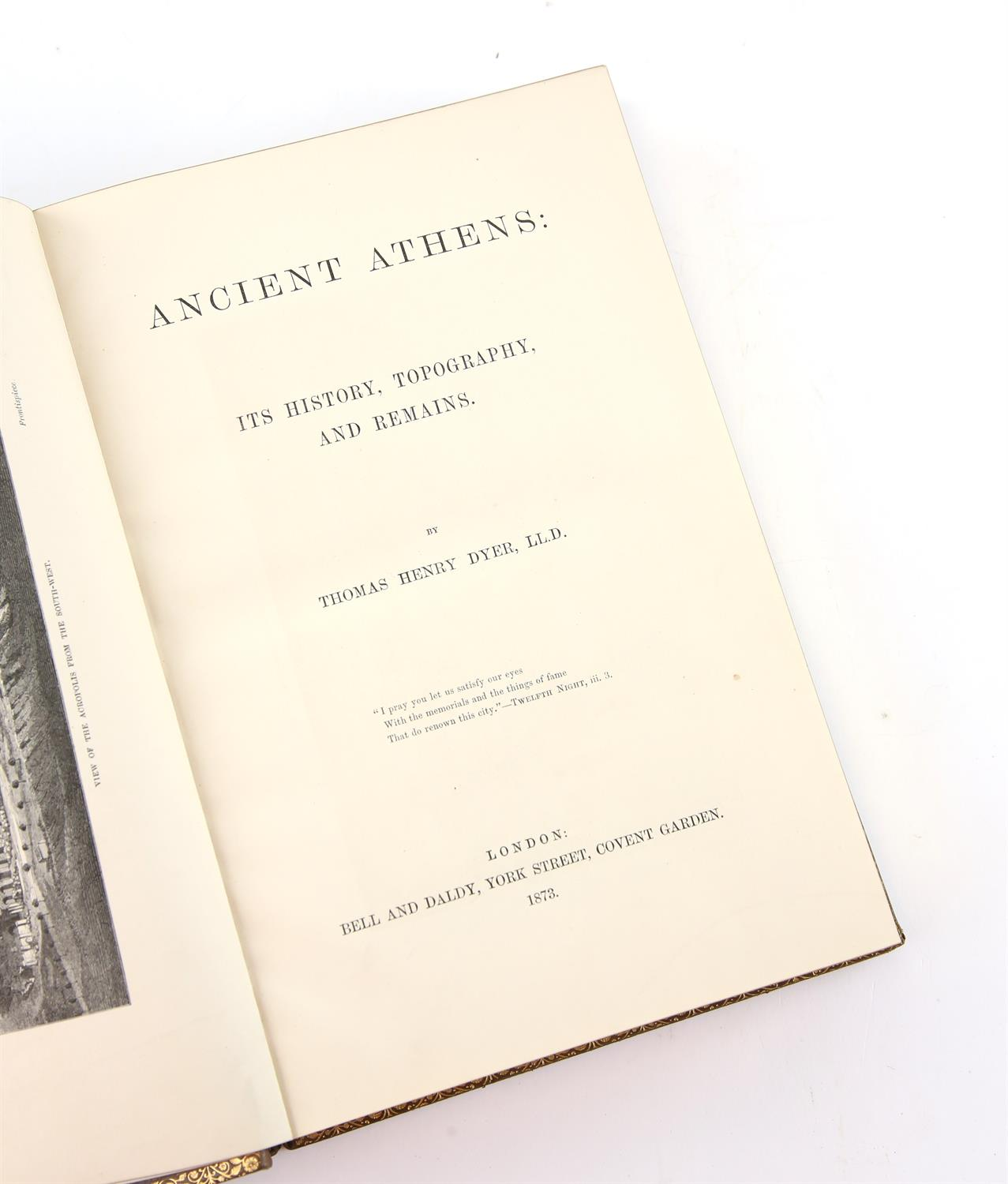 Thomas Henry Dyer, Ancient Athens; Its history, typography and remains, First edition published - Image 3 of 4