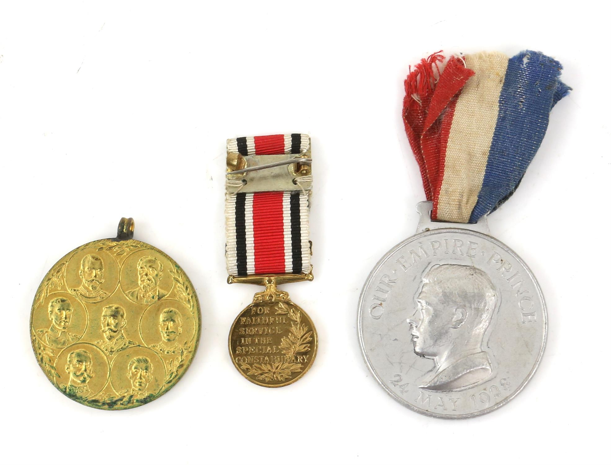 Large collection of medals and medallions, to include War Medal, Defence Medal, The Africa Star, - Image 3 of 5