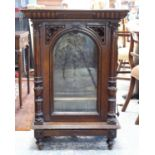 Late 19th century walnut cased free standing and coin operated Polyphon by Nicole Freres of Leipzig,