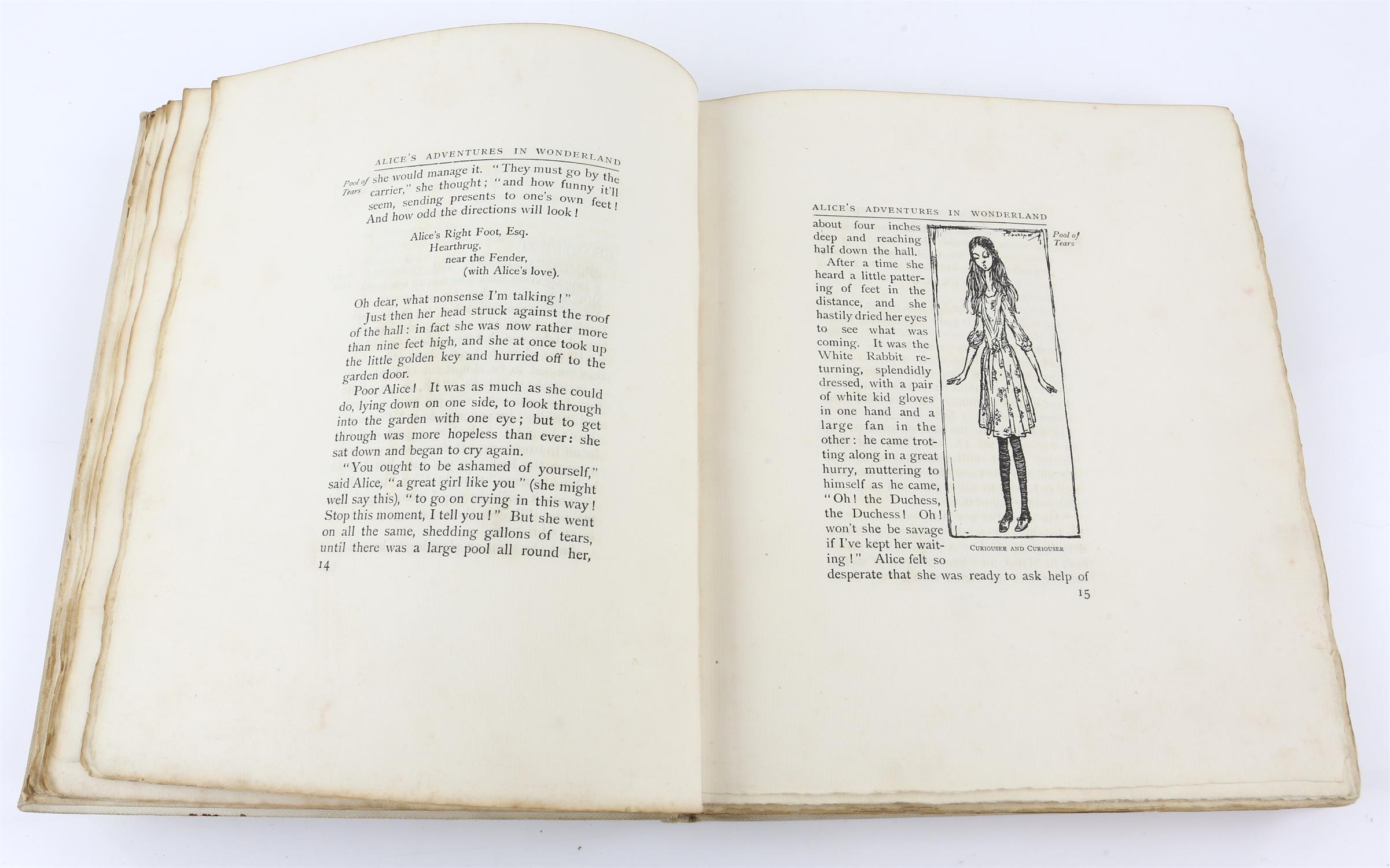 Carroll, Lewis, Alice's Adventures in Wonderland, illustrated by Arthur Rackham.W.Heinemann, - Image 11 of 17