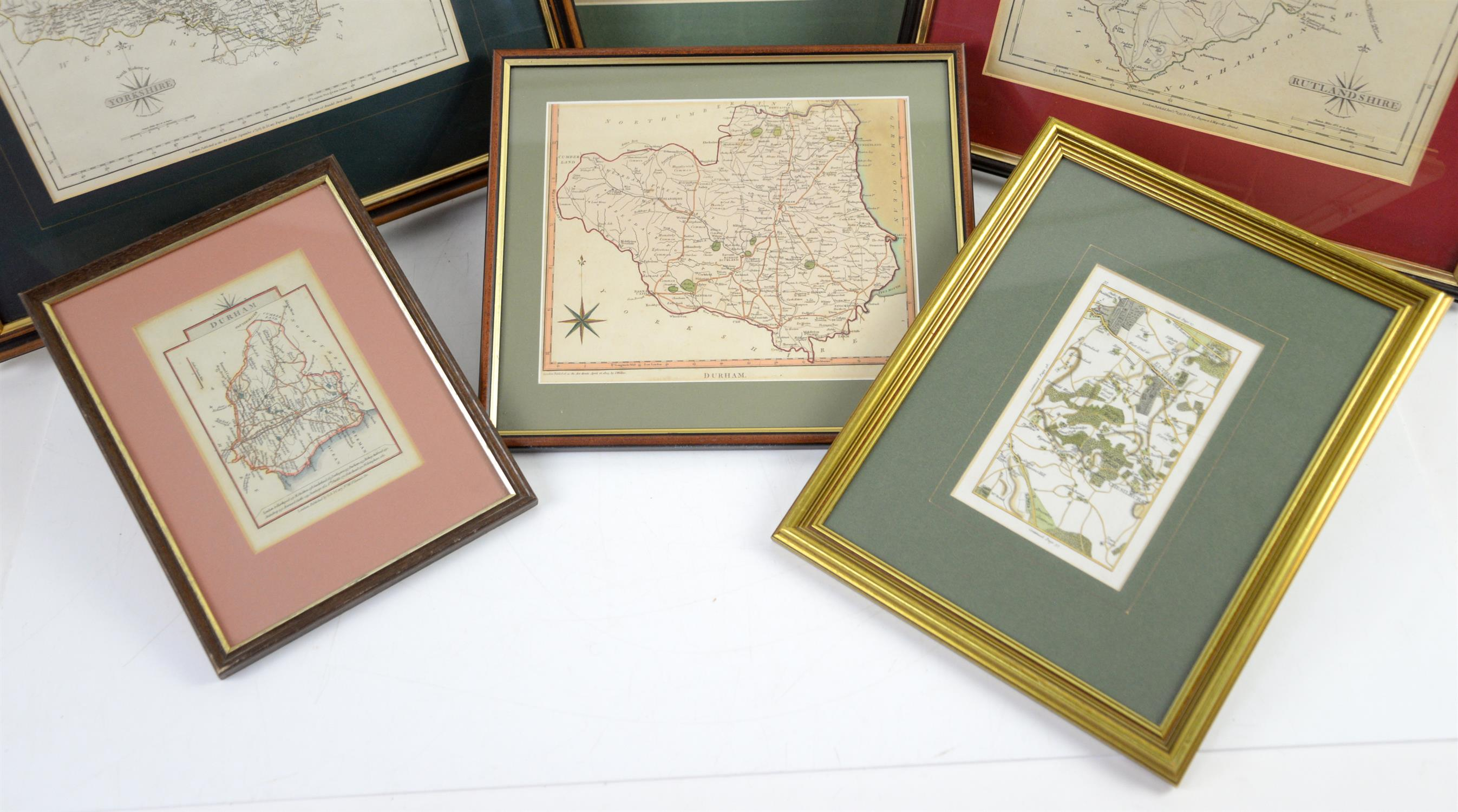 Colletion of maps to include North Riding of Yorkshire by John Cary, 1787, 22 x 27cm; Rutlandshire - Image 2 of 3