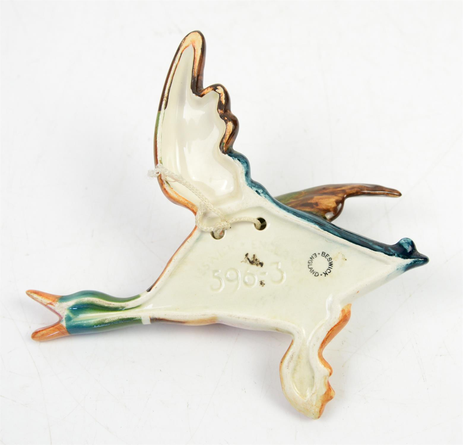 Set of four graduated Beswick Flying ducks, No 596/1/2/3/4, largest H25cm W26cm, smallest H14cm - Image 2 of 2