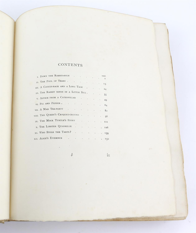 Carroll, Lewis, Alice's Adventures in Wonderland, illustrated by Arthur Rackham.W.Heinemann, - Image 13 of 17