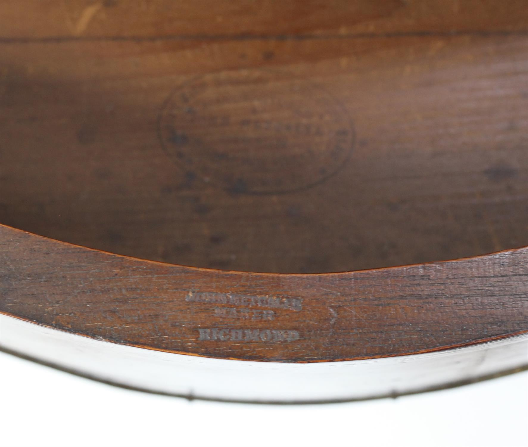 John Metcalfe of Richmond, (Yorkshire) mahogany, rosewood and burr walnut crossbanded serpentine - Image 3 of 5
