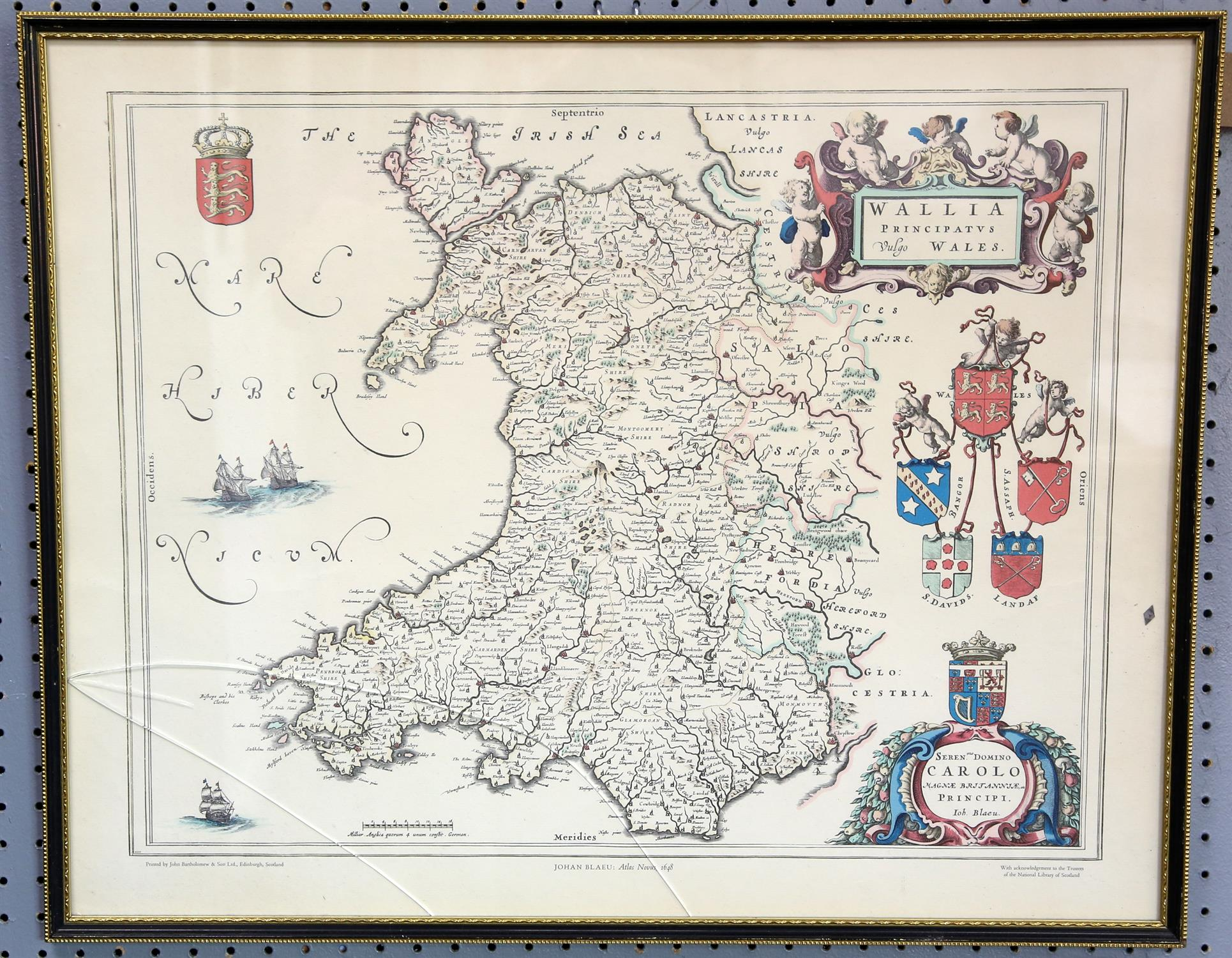 A collection of 5 reproduction maps, Ireland, Cornwall, Shropshire, Somerset and Wales - Image 4 of 4
