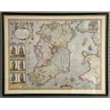 A collection of 5 reproduction maps, Ireland, Cornwall, Shropshire, Somerset and Wales
