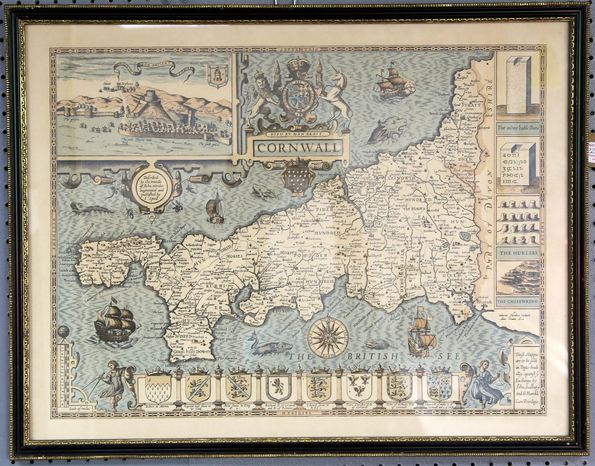 A collection of 5 reproduction maps, Ireland, Cornwall, Shropshire, Somerset and Wales - Image 2 of 4