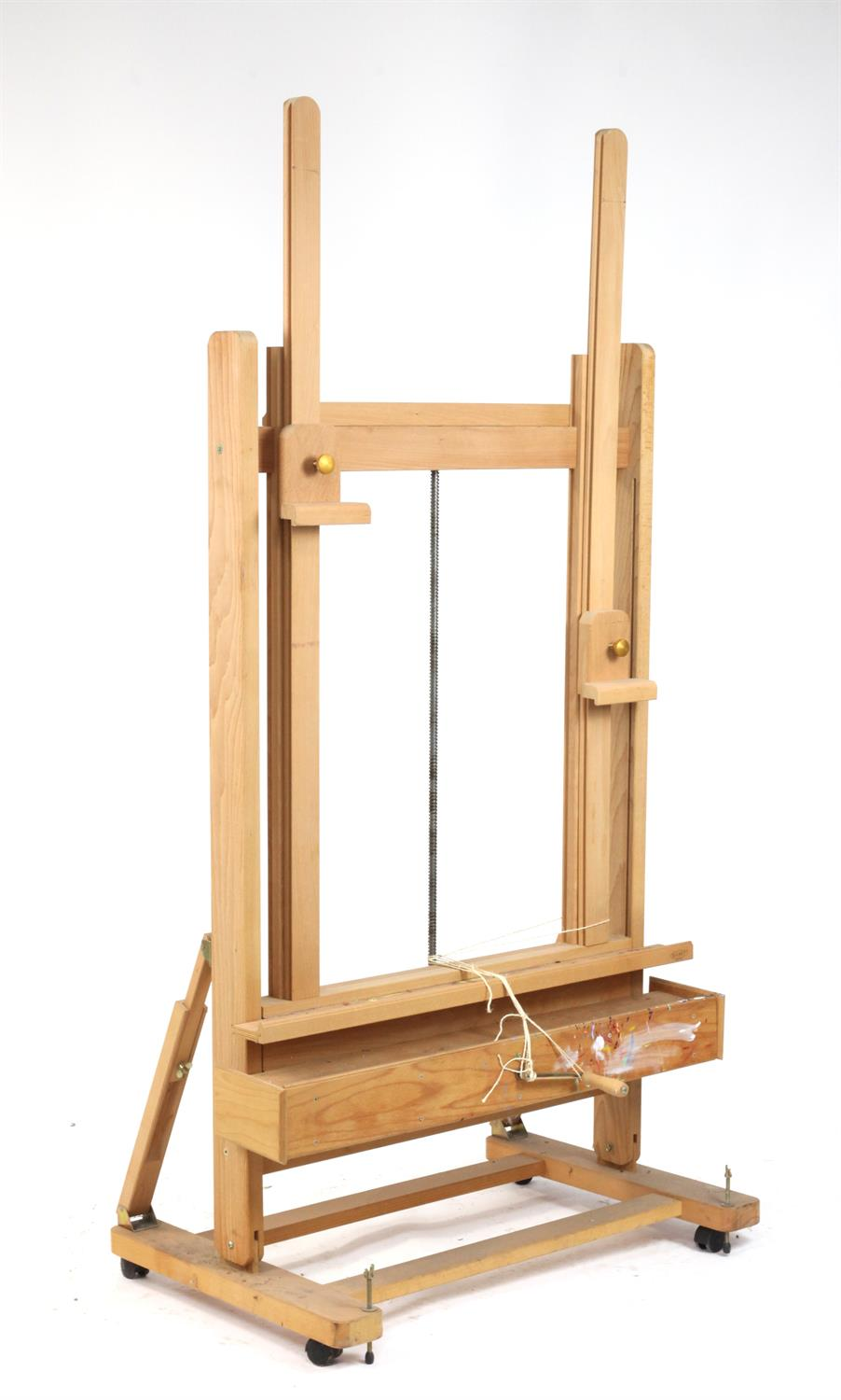 Large modern Italian adjustable artist's easel by Mabef, with two drawers, on castors, - Image 2 of 2