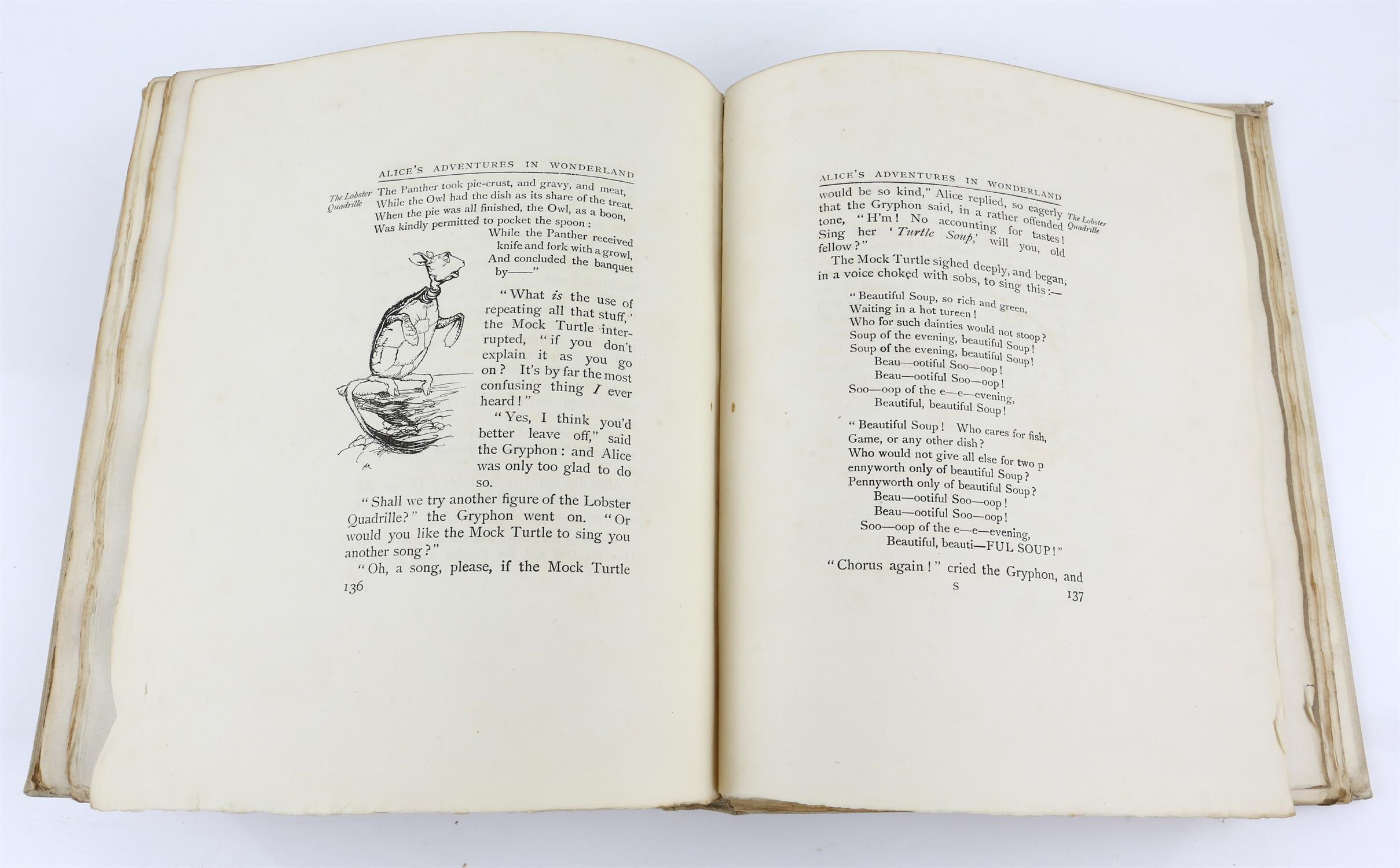 Carroll, Lewis, Alice's Adventures in Wonderland, illustrated by Arthur Rackham.W.Heinemann, - Image 15 of 17