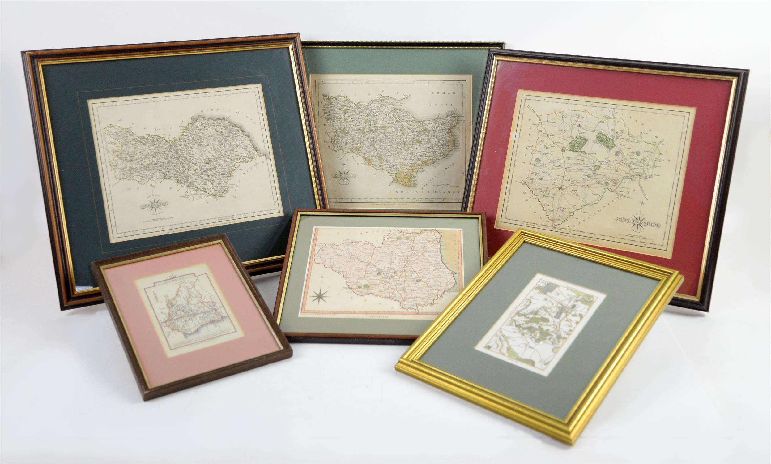 Colletion of maps to include North Riding of Yorkshire by John Cary, 1787, 22 x 27cm; Rutlandshire